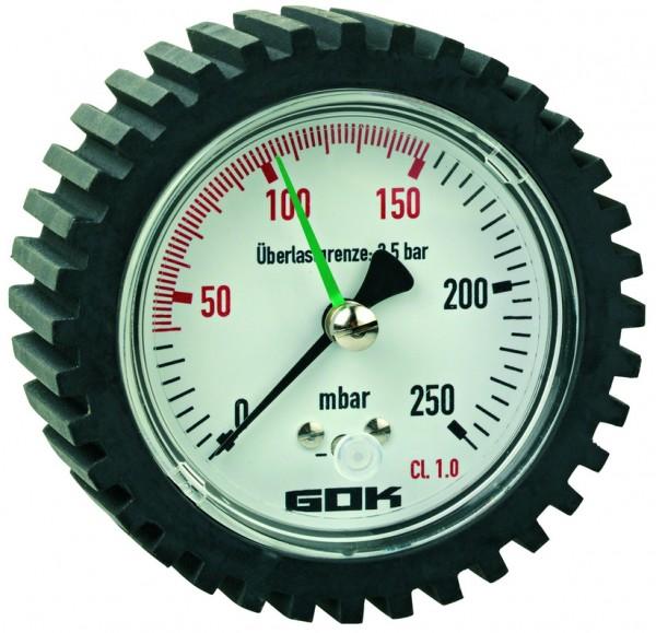 Prüfmanometer 0-250 mbar, Güteklasse 1.0