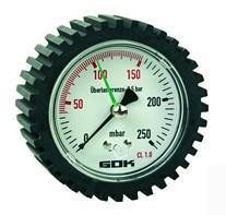 Prüfmanometer 0 bis 300 mbar Güteklasse 2.5
