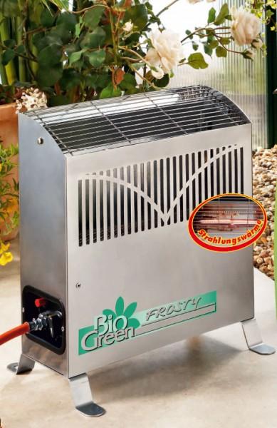 Gas Gewächshausheizung Frosty 4500 Bio Green im Gewächshaus