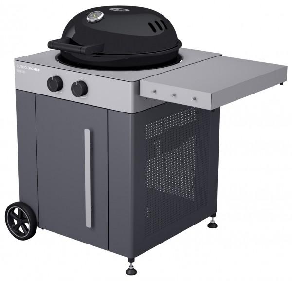 Outdoorchef Arosa 570 G Grey Steel Gaskugelgrill Seitlich