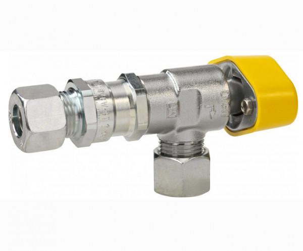 Schnellschlußventil m. thermischer Absperrung 12 mm Eck