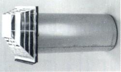 Abzugs-Frischluftrohr mit Windschutz Weser