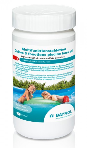 Bayrol Multifunktions-Chlortabletten 20 g, 1kg Dose