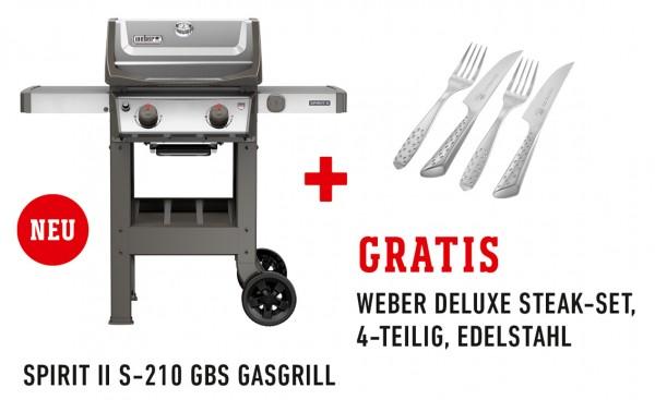 Weber Spirit II S 210 GBS Gasgrill, Edelstahl - Spezial-Set