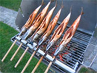 Weber Elektrogrill Fisch Grillen : Steckerlfischaufsatz für grills jeder art gÖtz gasgeräte